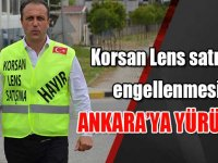 """""""Korsan gözlük ve lens satışının engellenmesi"""" için İstanbul'dan Ankara'ya yürüdü"""