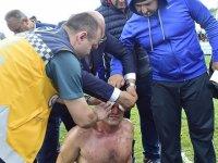 Yaralının yardımına doktor olan vekil adayı koştu