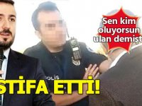 Polise 'lan' diyen sağlık müdürü istifa etti