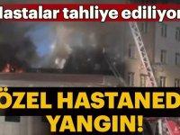 Sultanbeyli'de özel hastanede yangın çıktı