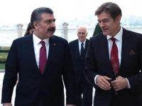 Sağlık Bakanı Fahrettin Koca ile Mehmet Öz bir araya geldi