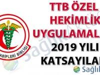 TTB Özel Hekimlik Uygulamaları 2019 Yılı Katsayıları