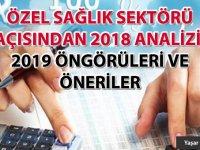Özel Sağlık Sektörü açısından 2018 analizi, 2019 öngörüleri ve öneriler