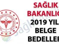 Sağlık Bakanlığı 2019 Yılı Belge Bedelleri