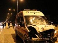 Hasta nakli yapan ambulansın çarptığı öğretmen öldü