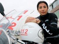 Kadın sağlıkçı, motosikletli ambulansıyla hayat kurtarıyor