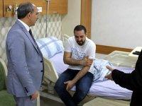 Konya'da darp edilen doktorun tedavisi sürüyor