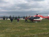 Hava ambulansı 9 aylık bebek için havalandı