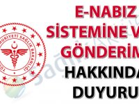 e-Nabız sistemine veri gönderimi hakkında duyuru