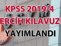 KPSS 2019/4 tercih kılavuzu yayımlandı