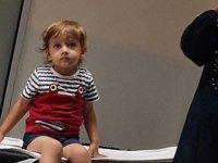 Hamza'nın boğazına takılan 1 lira hastanede çıkarıldı