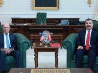 Sağlık Bakanı Koca, ABD Ticaret Bakanı Ross ile bir araya geldi