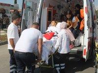 Ambulans kaza yapınca yeniden hastanelik oldu