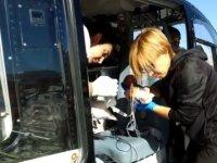 Hava ambulansı böbrek yetmezliği olan bebek için havalandı