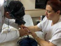 Ediz bebek kör olmaktan lazer tedavisiyle kurtuldu