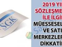 Sosyal Güvenlik Kurumu 2020 yılı sözleşmeleri ile ilgili müesseselerin ve satış merkezlerinin dikkatine