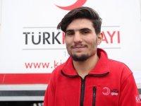 Suriyeli Mahmud, Kızılay gönüllüsü oldu