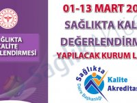 01-13 Mart 2020 Sağlıkta Kalite Değerlendirmesi Yapılacak Kurum Listesi