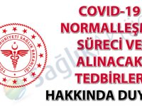 COVID-19 normalleşme süreci ve alınacak tedbirler hakkında duyuru-12.06.2020