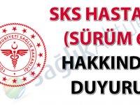 SKS Hastane (Sürüm 6) hakkında duyuru