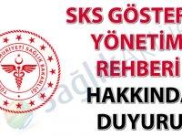 SKS Gösterge Yönetimi Rehberi hakkında duyuru (Güncel)