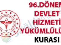 96. Dönem Devlet Hizmeti Yükümlülüğü Kurası İlanı
