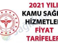 2021 Yılı Kamu Sağlık Hizmetleri Fiyat Tarifeleri
