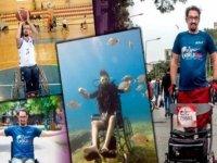 Ukrayna'da geçirdiği kaza sonucu omurilik felci olan aktivist Alper Patır azmiyle engel tanımıyor: