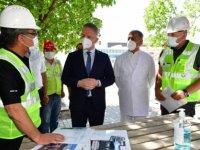 Gaziantep Valisi Gül, Nizip'te hastane inşaatını inceledi