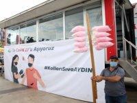 Aydın'da mobil aşı tırıyla randevusuz aşı uygulamasına yoğun ilgi