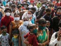 Hindistan'da son 24 saatte 41 bin 383 Kovid-19 vakası belirlendi