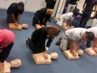 Çubuk'ta belediye personeline ilk yardım eğitimi verildi