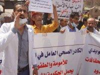 Yemen'in Taiz kentindeki doktorlar, bölgenin tek çocuk hastanesindeki sorunları protesto etti