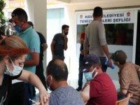 Havza Belediyesi personeline Kovid-19 aşısı belediyede yapıldı