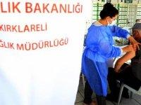 Kırklareli'nde nüfusun yarısından fazlası ilk doz Kovid-19 aşısı oldu