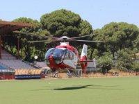 İzmir'de hava ambulansı tüpten parlayan alevle yaralanan kişi için havalandı