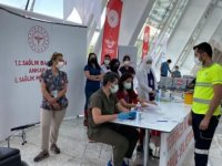 Ankara Yüksek Hızlı Tren Garı'nda Kovid-19 aşısı yapılmaya başlandı