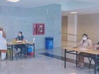 Mobil aşı ekipleri Kayseri Bölge Adliye Mahkemesi'nde mesaiye başladı