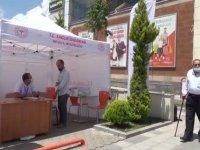 Ahlat'ta Kovid-19 aşı çadırı kuruldu