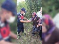 Karabük'te kaybolan 87 yaşındaki alzaymır hastası kadını jandarma buldu