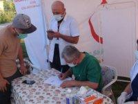 Tatvan'da 14 noktada aşı standı kuruldu