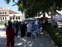 Tokat'ta Kovid-19 aşı çadırları kuruldu