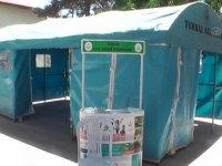 Turhal'da Kovid-19 aşı çadırı kuruldu