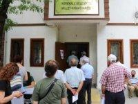 Kırıkkale Millet Kıraathanesi'nde Kovid-19 aşısı yapılıyor