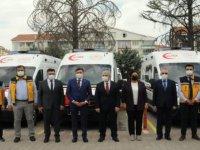 Kırşehir'de 5 ambulans hizmete girdi