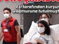 Eşi tarafından silahla yaralandığı iddia edilen kadın, duruşmaya sedyeyle getirildi