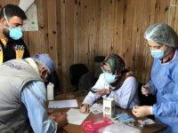 Bayburt'ta mobil sağlık ekipleri yaylalarda Kovid-19 aşısı yapıyor
