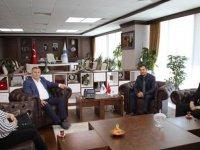 AYBÜ Sağlık Bilimleri Meslek Yüksekokulu Müdürü Koç'tan Belediye Başkanı Demirbaş'a ziyaret