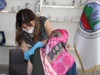 Siirt Kadın Yaşam Merkezinde mobil aşı uygulama noktası oluşturuldu