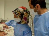 Erzurum'da mide kanaması geçiren bebek, KTÜ Farabi Hastanesindeki tedavisinin ardından sağlığına kavuştu